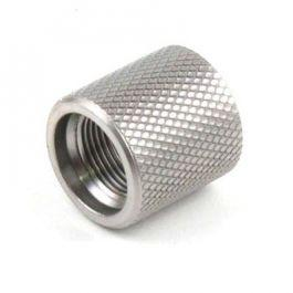 Knurled Muzzle Thread Protector (Stainless)?>