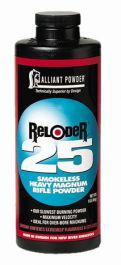 Alliant RELODER 25 Smokeless Heavy Magnum Rifle Powder for Reloading - 1LB?>