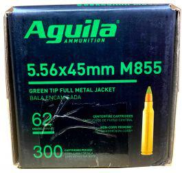 Aguila M855 5.56x45mm Green Tip FMJ Ammo, 62 grains (300 rounds/box)?>