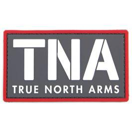 TNA True North Arms PVC Morale Patch w/Velcro-White on Grey?>