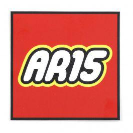 """AR-15"" Building Toy Sticker?>"