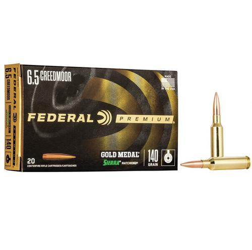 FEDERAL GOLD MEDAL RIFLE AMMO 6.5 CREEDMOOR GM65CRD1?>