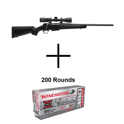 Winchester XPR Compact .350 Legend Bolt-Action Rifle W/ Vortex Crossfire II 3-9×40 Scope + 200Rounds WINCHESTER 350 Legend 180 Gr Power Point Combo?>