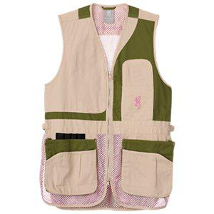 BROWNING VEST TRAPPER CREEK SAGE/TAN/PINK 3050695401?>