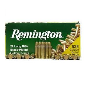 REMINGTON .22LR BRASS-PLATED HP 525RDS 1622C?>