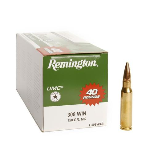 REMINGTON VALUE PACK UMC® Rifle Cartridges FMJ 150gr 308 Winchester L308W4B?>