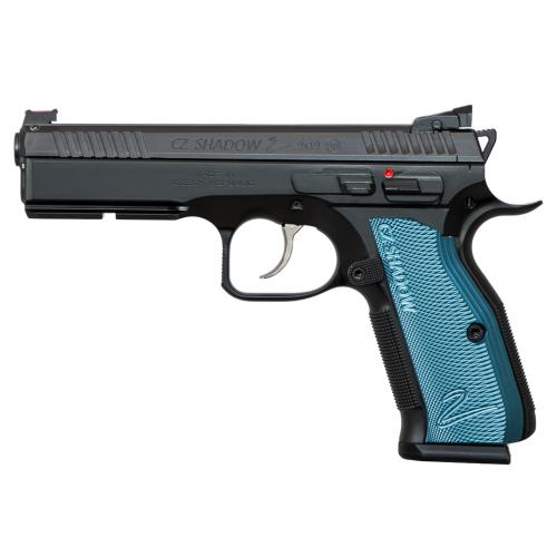 CZ Shadow 2 Black & Blue  OPTIC READY  0424-0741-1700040?>