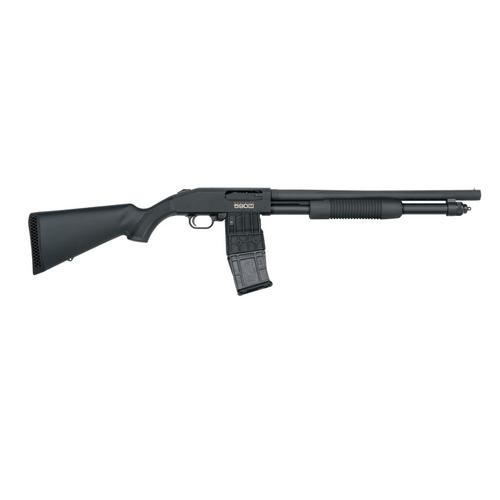 MOSSBERG 590M Mag-Fed Pump-Action, 12 GA, 18.5 Heavy-Walled Barrel, 10 round Magazine,  50205?>
