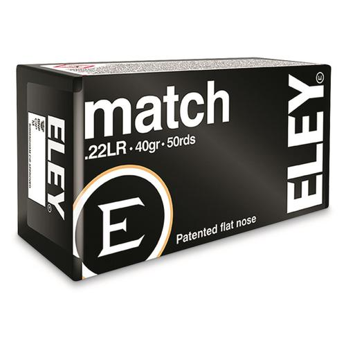 ELEY MATCH 22 LR AMMUNITION 40GR?>