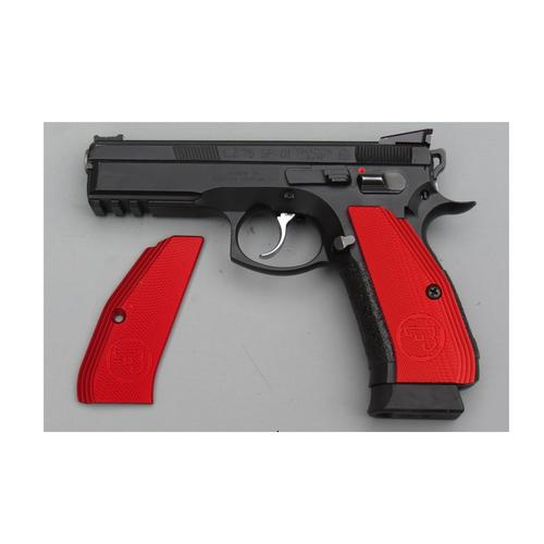 CZ75 standard aluminum grips- black, blue and red?>