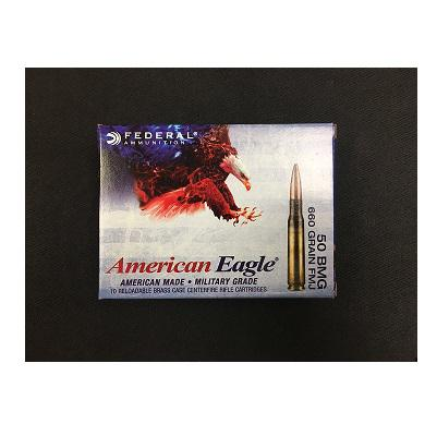 FEDERAL AMERICAN EAGLE 50 BMG 660 GRAIN XM33 FMJ?>