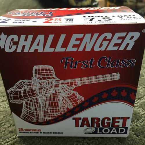 CHALLENGER Light Load Shells, 12 GA, 2″ 3/4, #7.5, 1 OZ?>