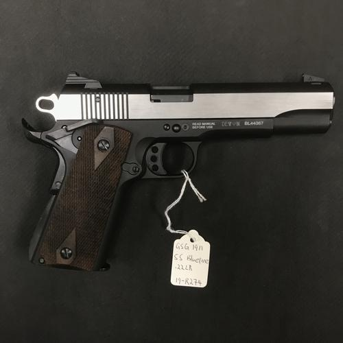 GSG-1911 STAINLESS Silver Wood Grip .22LR?>