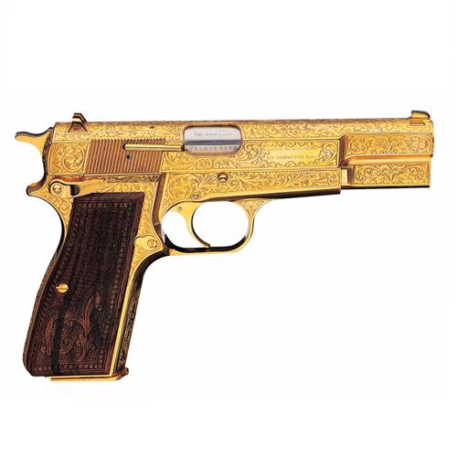 BROWNING Custom HI POWER LUXUS RENAISSANCE GOLD 9mm  0941063?>
