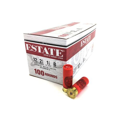 ESTATE 12GA #8 Shot 2 3/4 TARGET LOAD 1-1/8oz GTL12HN1008?>