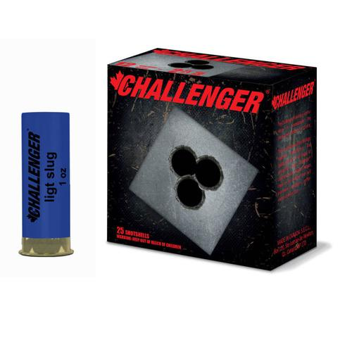 Challenger 12GA Low-Recoil Slug 2-3/4″, 1oz 25RDS/100RDS 03150?>