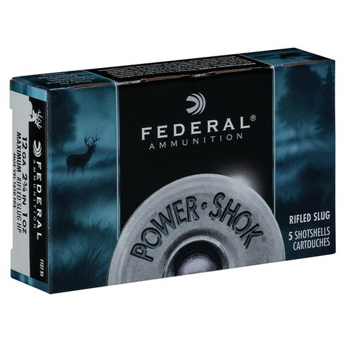 FEDERAL 12GA 2 3/4″ MAX. 1 oz POWER•SHOK RIFLED SLUG  F127RS?>
