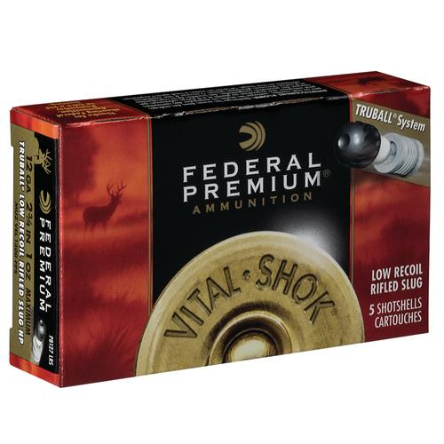 FEDERAL 12GA 2 3/4″ LOW RECOIL VITAL•SHOK TRUBALL RIFLED SLUG  PB127LRS?>