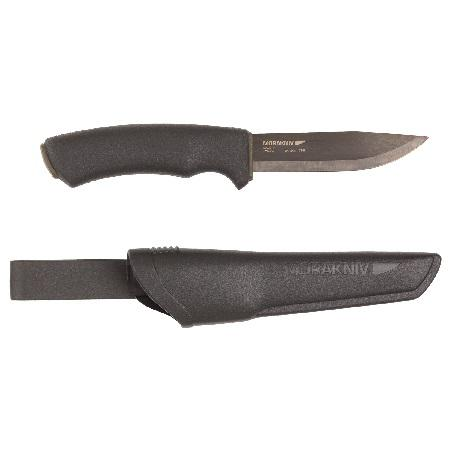 KNIFE BUSHCRAFT OUTDOOR MORA – DOUBLE BLACK CARBON STEEL BLADE 10791-SC?>
