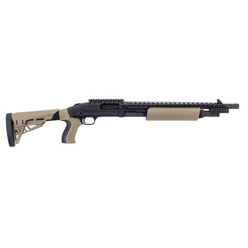 MOSSBERG 500 – ATI Tactical 12GA 18.5″  5 Rounds Adjustable Stock Heat Shield Flat Dark Earth/Black  50424?>