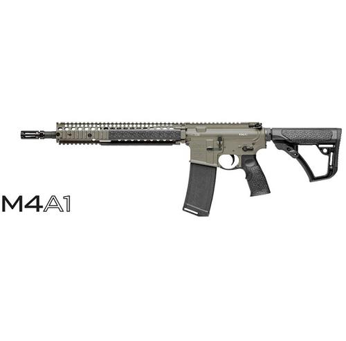 "DANIEL DEFENSE M4A1 5.56 14.5"" BARREL RAIL INTERFACE SYSTEM II (RIS II) DARK WOOD?>"