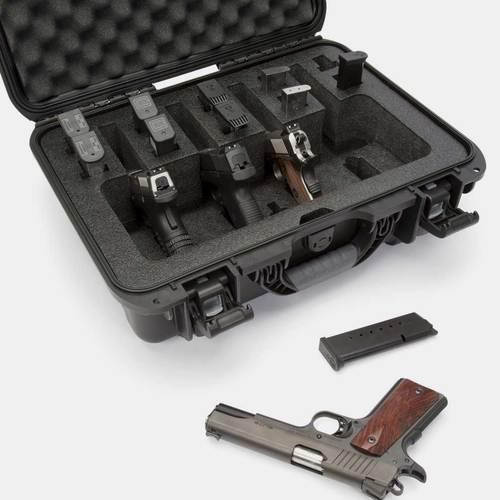 NANUK CASE W/FOAM INSERT FOR 4 UP PISTOL – BLACK ORANGE YELLOW  OLIVE GRAPHOTE 925-4UP?>