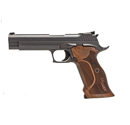"SIG SAUER P210 9MM 5"" TARGET BLK SAO ADJ SIGHT WALNUT GRIP  SIGC210A-9-TGT?>"