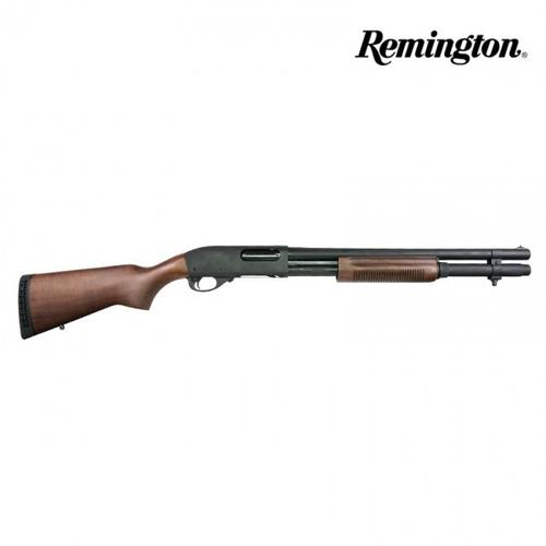 Remington 870 Police Magnum Walnut Furniture – 12GA, 2-3/4″ or 3″, 18″ Barrel, 7-Shot  24903?>