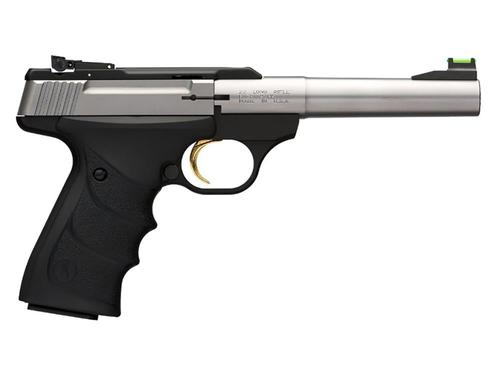 "Browning Buck Mark Camper .22LR 5.5"" Stainless Ultragrip FX Black?>"