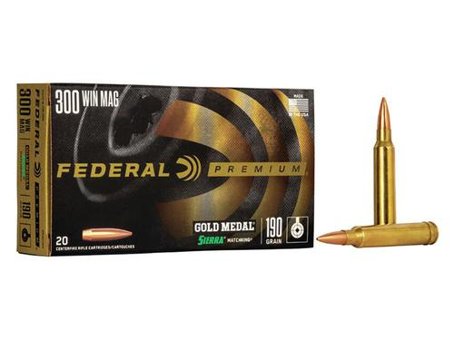 Federal Premium Gold Medal .300 Win Mag, 190 Grain, BTHP?>