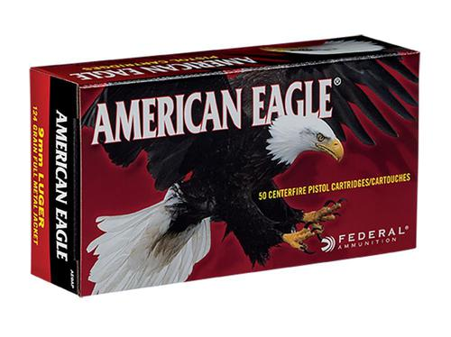 Federal American Eagle Ammunition 9mm 124 Grain Full Metal Jacket?>