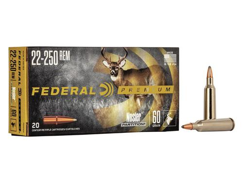 Federal Premium Vital-Shok Rifle Ammunition 22-250 Rem Nosler 60 Grains Box of 20?>